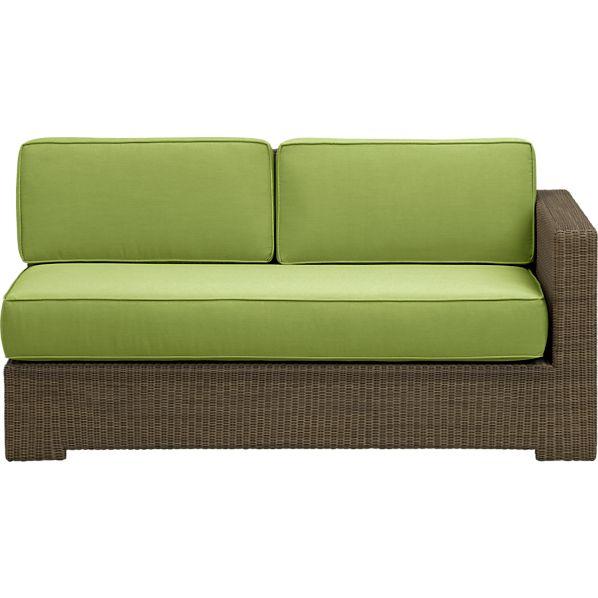 Sanibel Modular Right Arm Loveseat with Sunbrella ® Kiwi Cushions