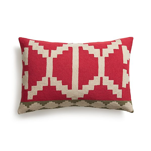 """Santo 24""""x16"""" Pillow with Feather-Down Insert"""