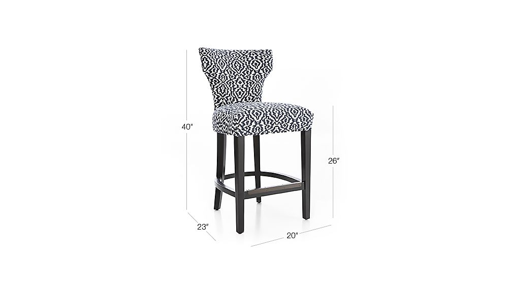 Sasha Counter Chair Crate and Barrel : Sasha24inCntrStlMinuetNavy3QF16Dim from www.crateandbarrel.com size 1008 x 567 jpeg 30kB