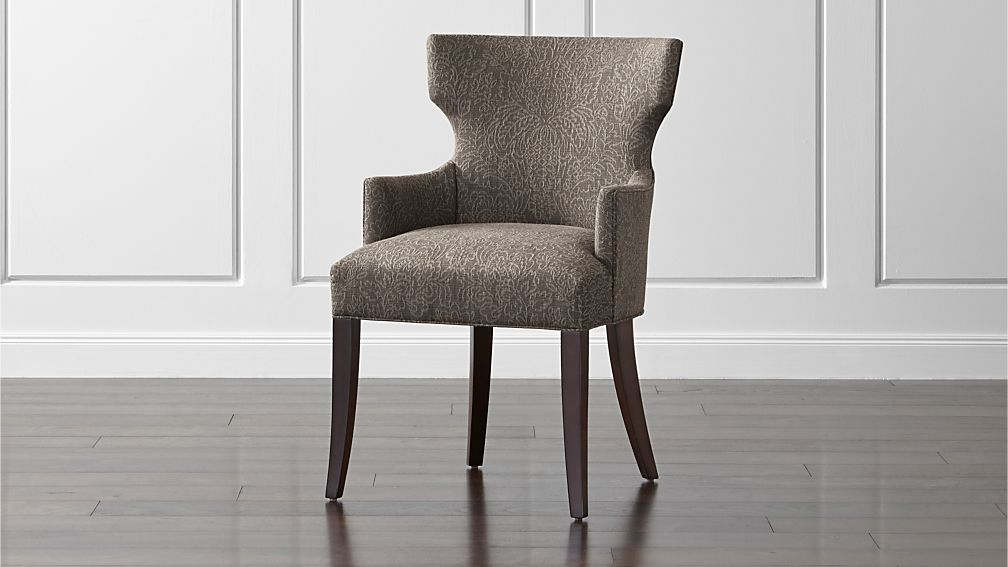 Sasha Upholstered Dining Arm Chair Crate and Barrel