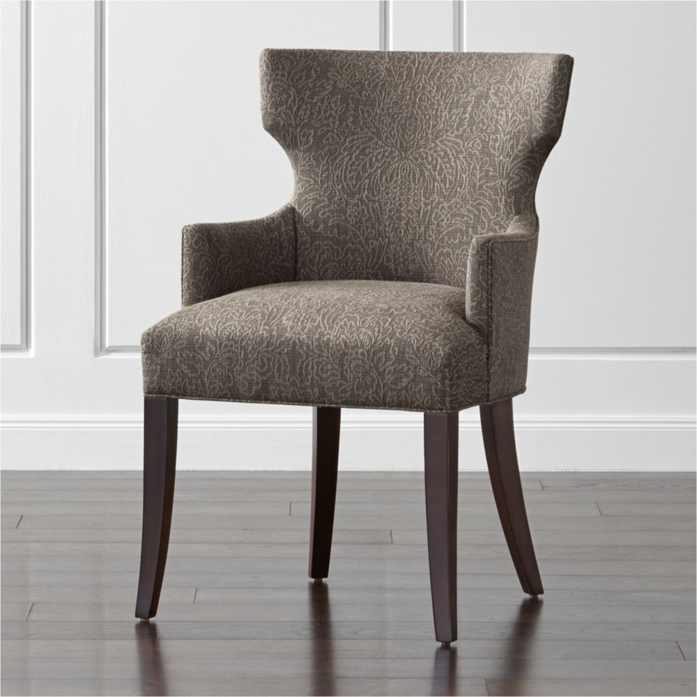 Sasha Upholstered Dining Arm Chair - Crate and Barrel