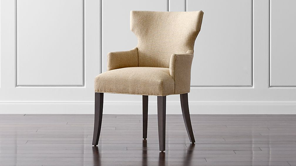 Dining Arm Chairs Upholstered sasha upholstered dining arm chair | crate and barrel