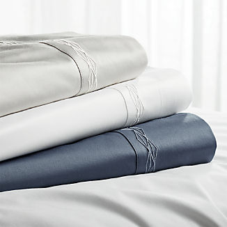 Bed Sheets Pillow Cases And Sheet Sets Crate And Barrel