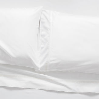 Sateen 600 Thread Count White Standard Pillowcases, Set of 2