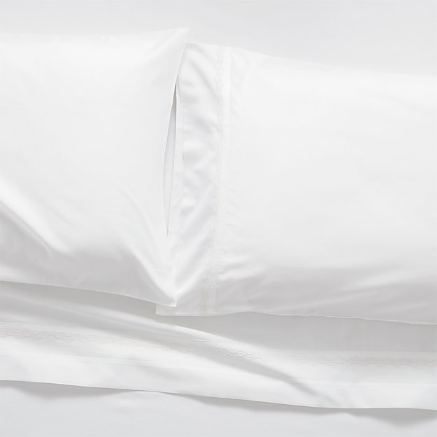 Sateen 600 Thread Count White Full Sheet Set - Image 1 of 5