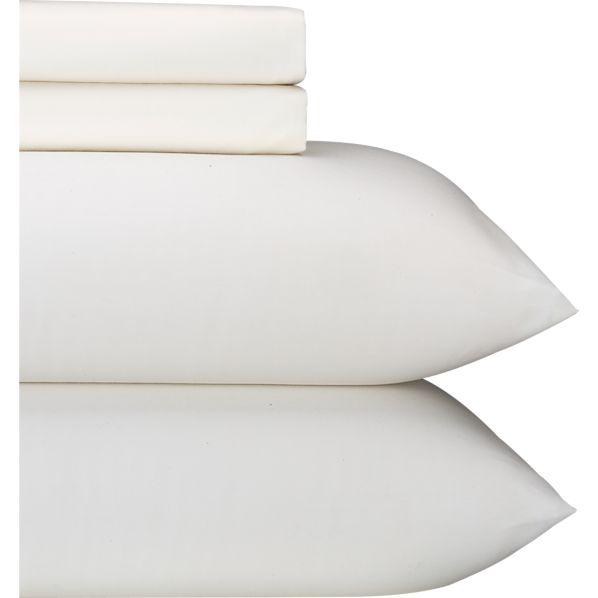 Sateen Ivory Full Sheet Set