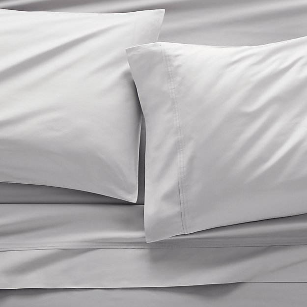 400 Thread Count Sateen Dove Full Sheet Set - Image 1 of 7