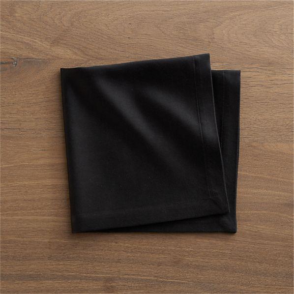 Sateen Black Napkin