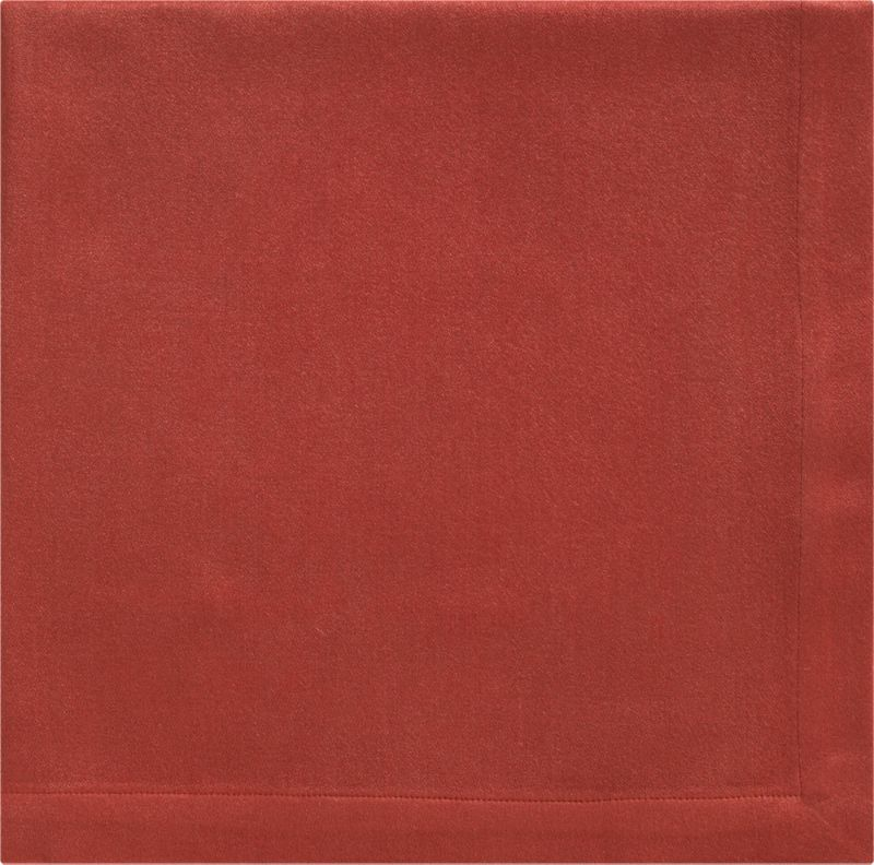 """Rayon/cotton blend sateen napkin complements casual and formal dining in versatile solids. Napkin is tailor finished with 1"""" hem.<br /><br /><NEWTAG/><ul><li>57% rayon and 43% cotton</li><li>Machine wash; tumble dry, warm iron as needed</li></ul>"""