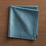 Sateen Smoke Blue Cloth Dinner Napkin