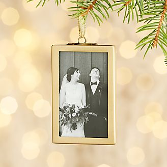 Picture Frame Ornaments  Crate and Barrel