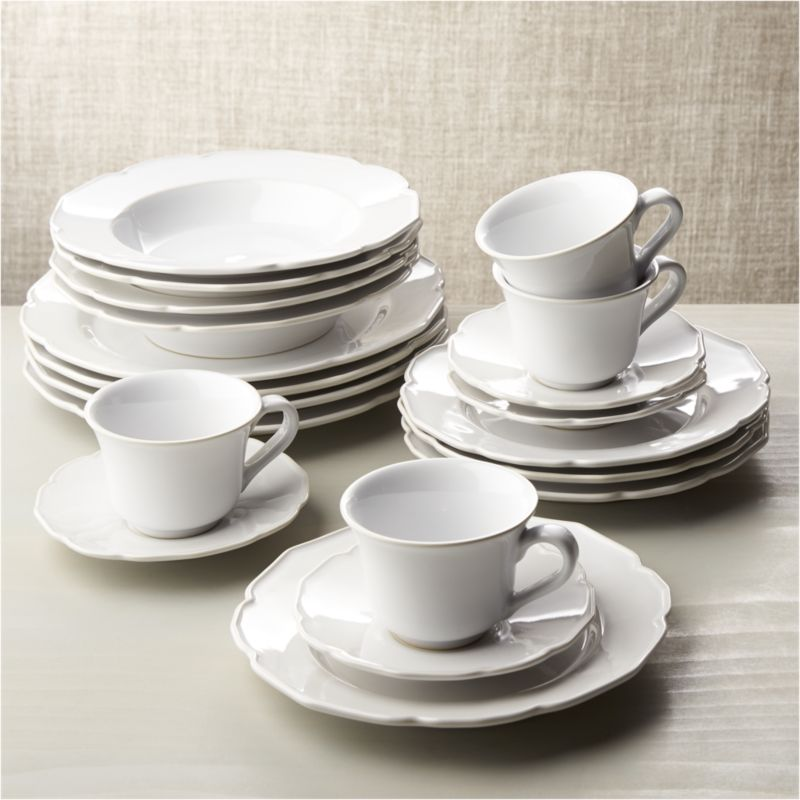 Savannah 20 Piece Dinnerware Set Reviews Crate And Barrel