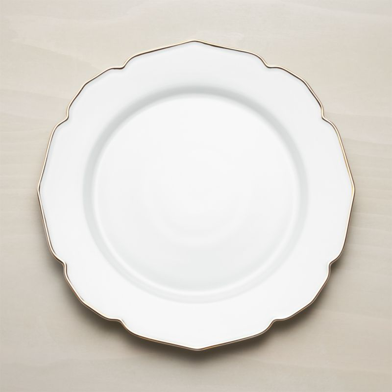 & Gold Rimmed Plates + Reviews | Crate and Barrel
