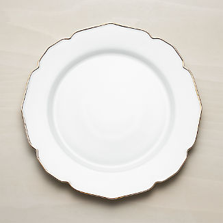 Savannah Charger Plate with Gold Rim