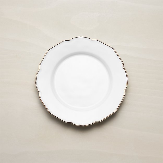 Savannah Salad Plate with Gold Rim - Image 1 of 8