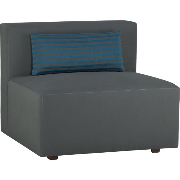 Savino Solid Armless Sectional Chair
