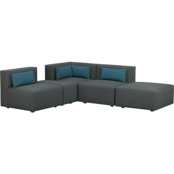 Savino Solid 5-Piece Sectional Sofa