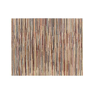 Savoy Cream Striped Hand Knotted Wool 8'x10' Rug