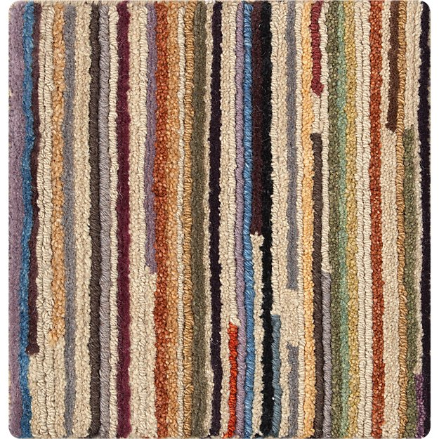 Savoy Cream Striped Hand Knotted Wool 12 Quot Sq Rug Swatch