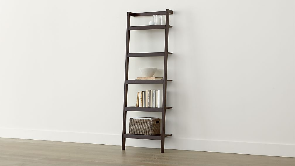 Sawyer Mocha Leaning 24 5 Quot Bookcase Reviews Crate And