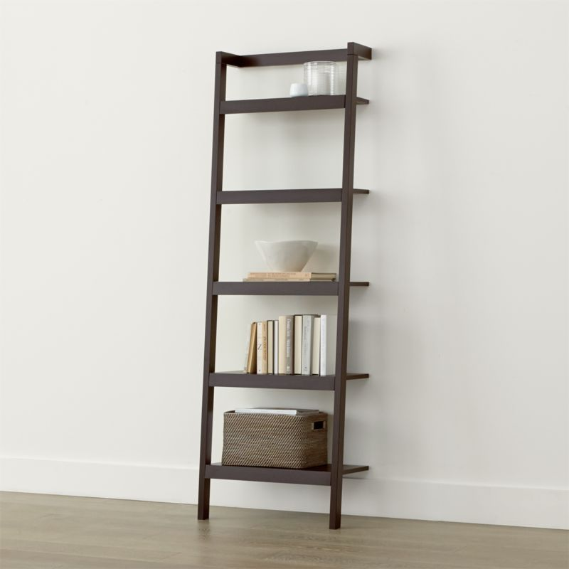 sawyer mocha leaning 245 bookcase - Large Bookshelves