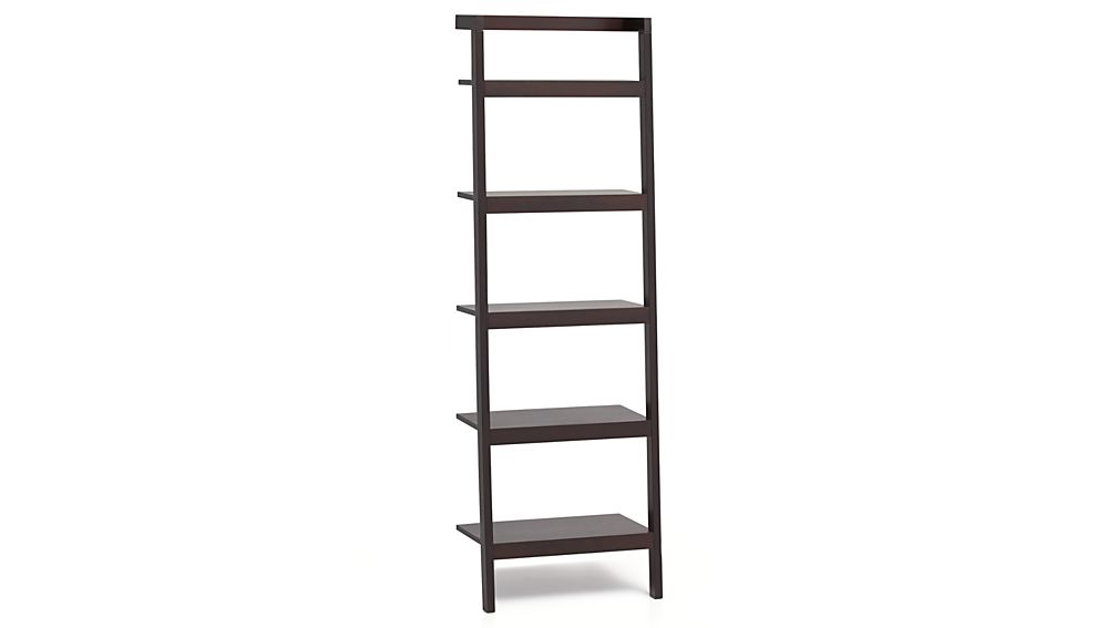 Sawyer Mocha Leaning 245 Bookcase Reviews Crate And Barrel