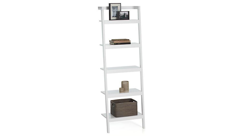 """Sawyer White Leaning 24.5"""" Bookcase"""
