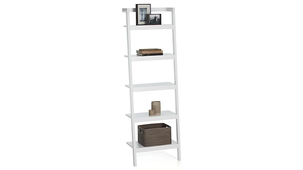 Sawyer White Leaning 24 5 Quot Bookcase Crate And Barrel