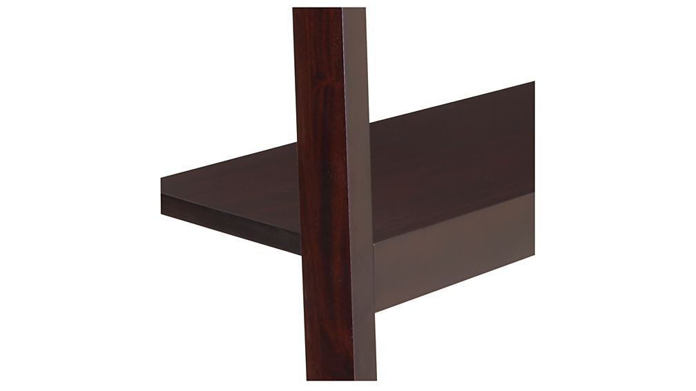 Sawyer Mocha Leaning 24 5 Quot Bookcase Crate And Barrel