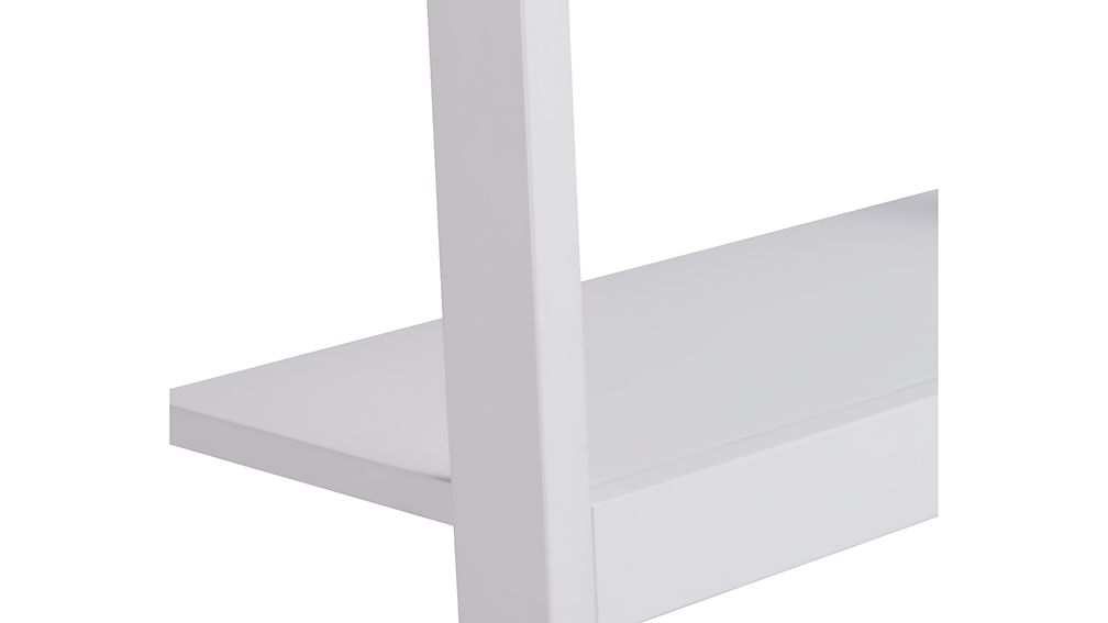 """Sawyer White Leaning 24.5"""" Bookcases Set of Three"""
