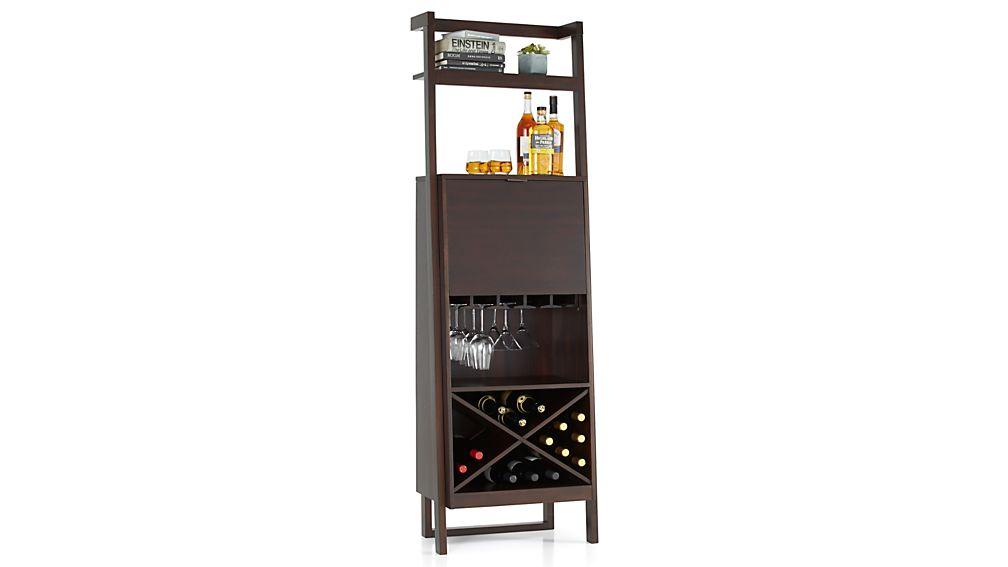 Sawyer Mocha Leaning Wine Bar