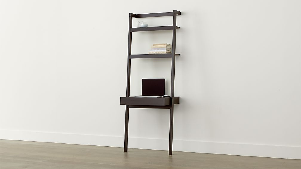 Sawyer Mocha Leaning Desk Reviews Crate And Barrel