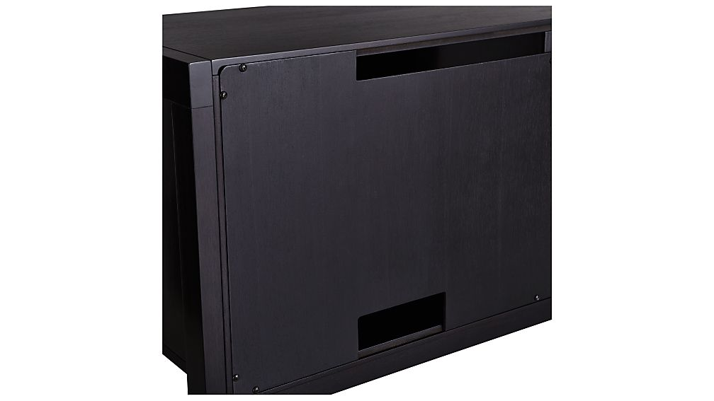 Sawyer Mocha Media Stand with Media Shelf and Two 24.5'' Bookcases