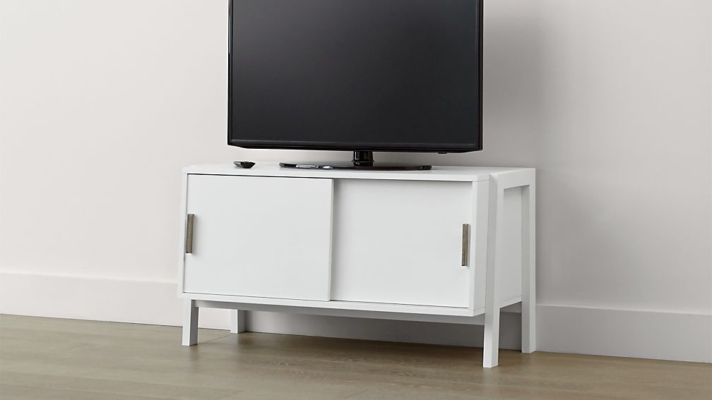 Sawyer Low White Media Stand - Image 1 of 5