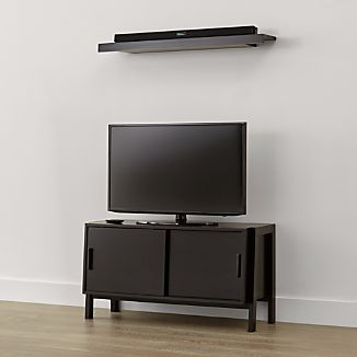 Sawyer Low Mocha Media with Media Shelf