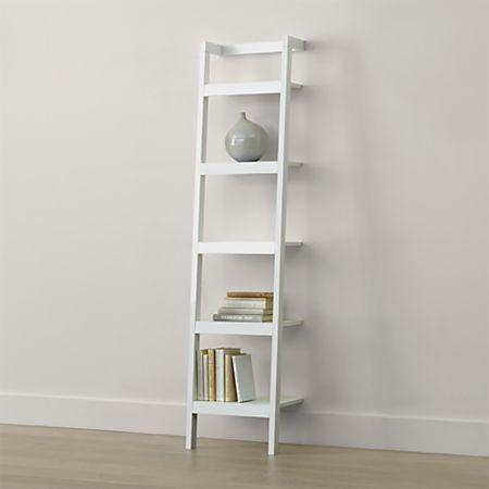 Sawyer White Leaning 18 Bookcase
