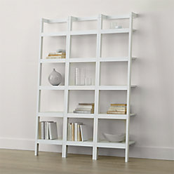 Sawyer White Leaning 24 5 Quot Bookcase Reviews Crate And