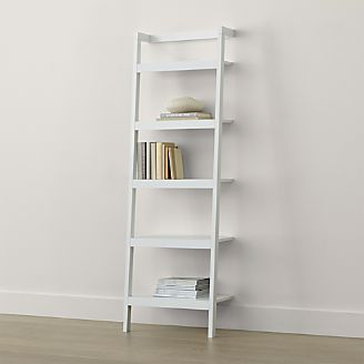 Sawyer White Leaning 245 Bookcase