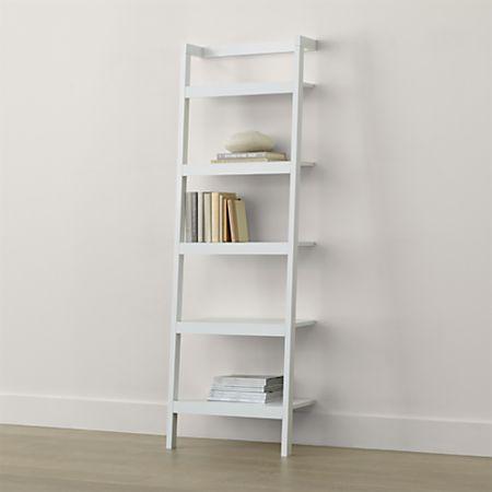 Sawyer White Leaning 24 5 Bookcase