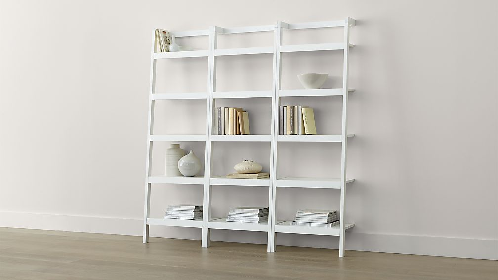 Sawyer White Leaning 245 Bookcases Set Of Three Reviews
