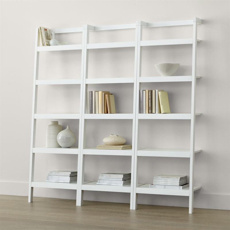 Sawyer White Leaning 24 5 Quot Bookcases Set Of Three