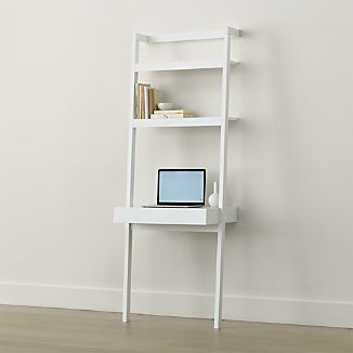 Sawyer White Leaning Desk