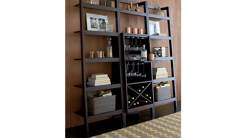 "Sawyer Mocha Leaning 24.5"" Bookcase 
