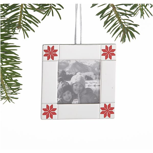 Scandinavian Snowflake Frame Ornament