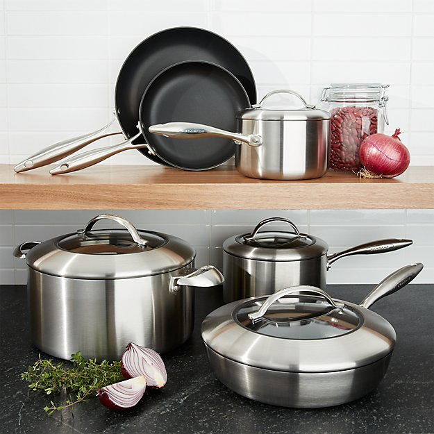 Scanpan 174 Ctx 10 Piece Cookware Set Crate And Barrel
