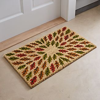 Scattered Leaves Door Mat
