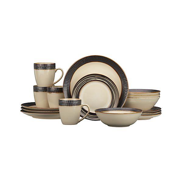 Scavo 16-Piece Dinnerware Set with Swirl Salad Plate