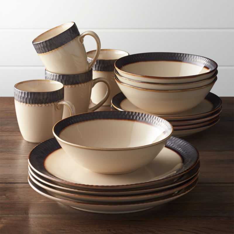 & Scavo 16-Piece Dinnerware Set + Reviews | Crate and Barrel