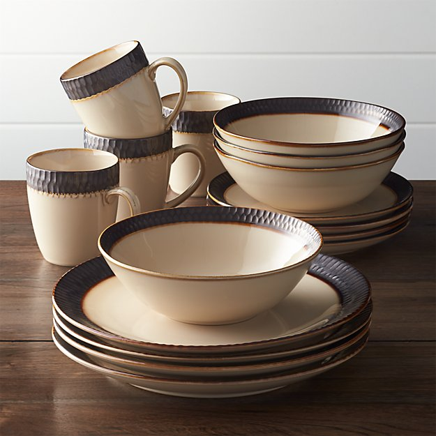 Scavo 16 Piece Dinnerware Set Crate And Barrel