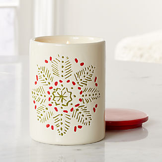Snowflake Scented Ceramic Jar Candle